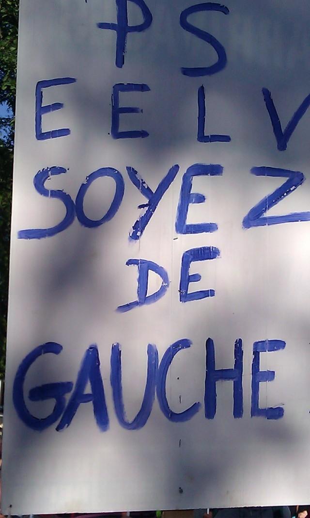 PS, EELV, soyez de gauche [PS, EELV, be left-wing]