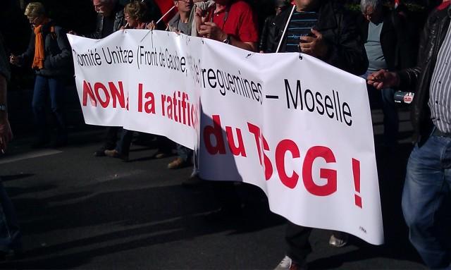Non à la ratification du TSCG, comité unitaire de Sarreguemines (Moselle) [No to the ratification of the TSCG, joint committee of Sarreguemines (Moselle)]