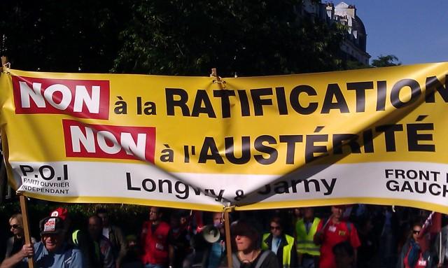 Non à la ratification, non au TSCG, Front de Gauche et POI de Longwy et Jarny []