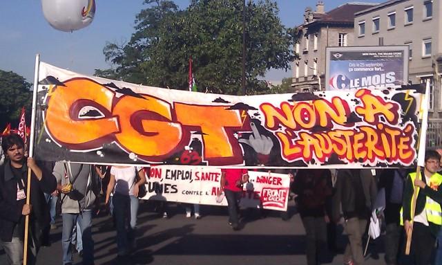 Non à l'austérité, CGT 63 [No to the austerity, CGT 63]