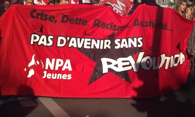 Pas d'avenir sans révolution, NPA Jeunes [No future without revolution, NPA Youth]