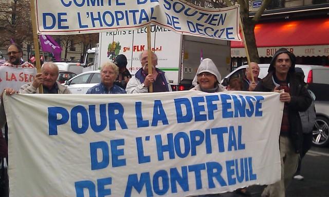Comité de soutien de l'hôpital de Decize, pour la défense de l'hôpital de Montreuil [Support committee of the hospital in Decize, for the defense of the hospital in Montreuil]