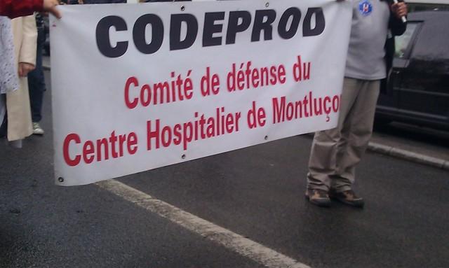 Comité de défense du centre hospitalier de Montluçon [Defense committee of the hospital in Montluçon]