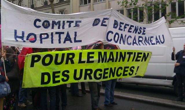Pour le maintien des urgences, comité de défense de l'hôpital Concarneau [To maintain the casualty department, defense committee of the hospital Concarneau]