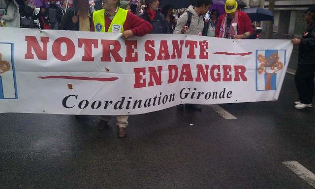 Notre santé en danger, coordination de Gironde [Our health at risk, coordination of Gironde]