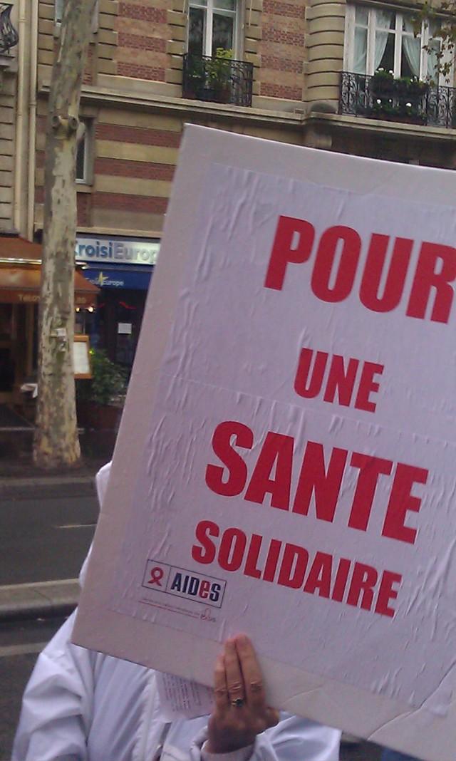 Pour une santé solidaire, AIDES [For an health with solidarity, AIDES]