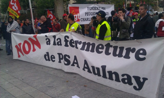 Non à la fermeture de PSA Aulnay [No to the closure of PSA Aulnay]