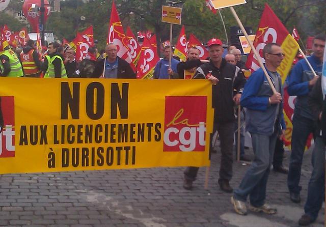 Non aux licenciements à Durisotti, CGT []