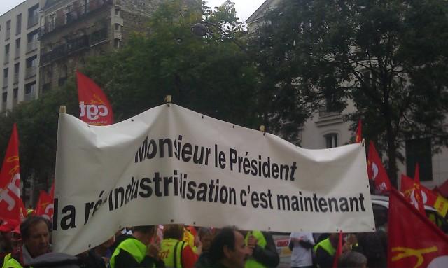 Monsieur le président, la réindustrialisation c'est maintenant [Mister President, the re-industrialization is for now]
