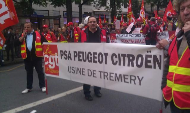 CGT PSA usine de Tremery [CGT PSA factory of Tremery]