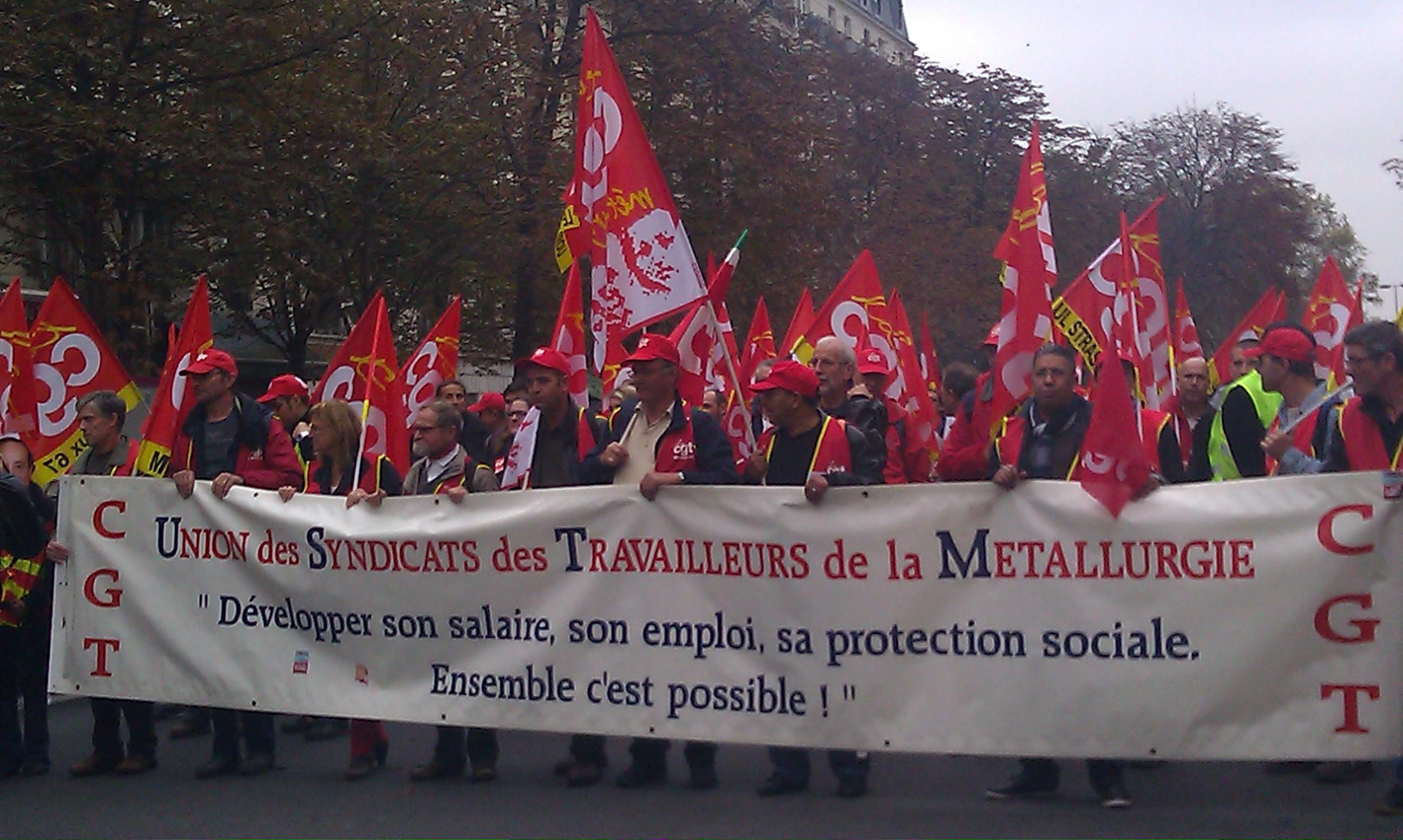 Développer son salaire, son emploi, sa protection sociale, c'est possible!, CGT Métallurgie []