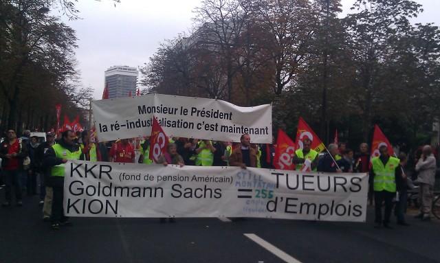KKR, Goldmann Sachs, Kion = tueurs d'emplois [KKR, Goldmann Sachs, Kion = job killers]