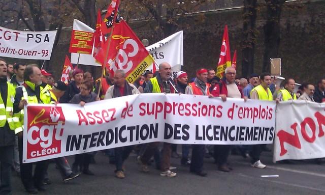 Assez de suppressions d'emplois, interdiction des licenciements, CGT Renault Cléon