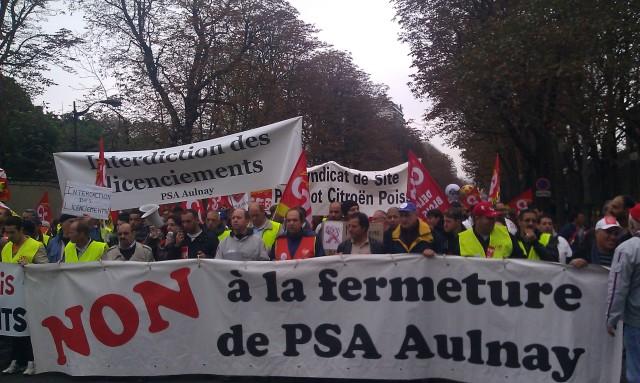 Non à la fermeture de PSA Aulnay [No to the closure of PSA Aulnay]