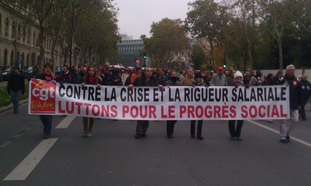 Contre la crise et la rigueur salariale, luttons pour le progrès social, CGT 94 [Against the crisis and wage restraint, let us struggle for social progress, CGT 94]