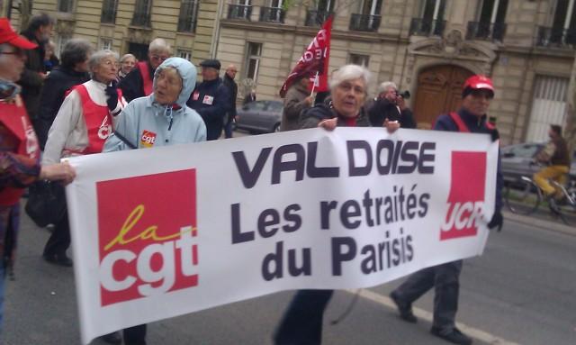 Les retraités du Parisis, CGT UCR Val d'Oise [The retired person of the Parisis, CGT UCR Val d'Oise]