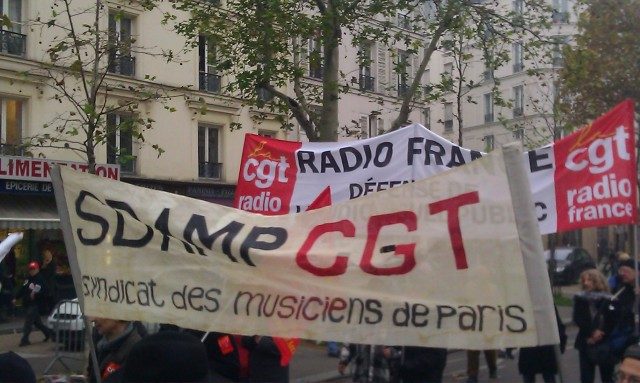 SDAMP CGT syndicat des musiciens de Paris [SDAMP CGT Musicians' Union of Paris]
