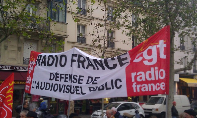 Radio France, défense de l'audiovisuel public, CGT Radio France [Radio France, defense of the public broadcasting, CGT Radio France]
