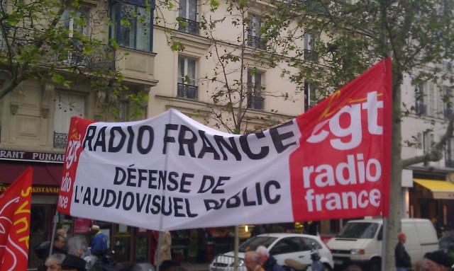 Radio France, défense de l'audiovisuel public, CGT Radio France [Radio France, defense of the public broadcasting, CGT Radio France]