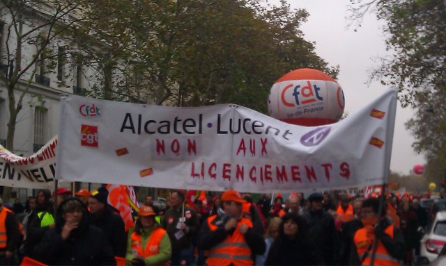 Non aux licenciements, Alcatel-Lucent [No layoffs, Alcatel-Lucent]