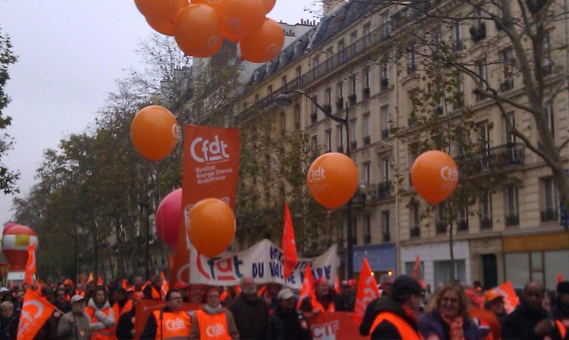 Cortège de la CFDT [March of the CFDT]