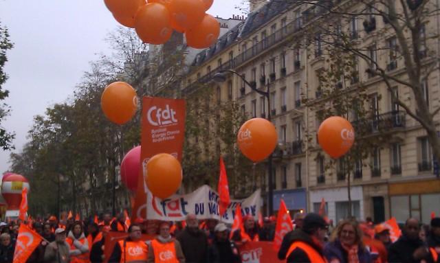 Cortège de la CFDT [March of the CFDT]