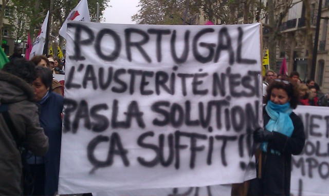 Portugal, l'austérité n'est pas la solution. Ca suffit!! [Portugal, austerity is not the solution. That's enough!!]