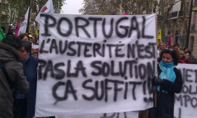 Portugal, l'austérité n'est pas la solution. Ca suffit!! [Portugal, austerity is not the solution. That's enough!!]