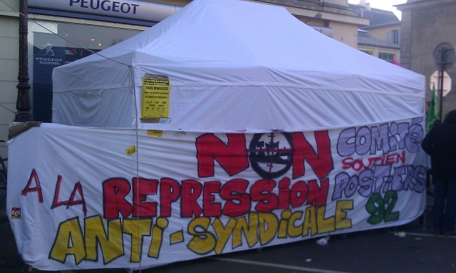 Non à la répression anti-syndicale, comité de soutien des postiers du 92 [No to the anti-union repression, support committe for the postmen of the 92]