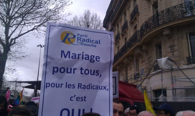 Mariage pour tous, pour les radicaux c'est OUI, PRG [Marriage for all, for the radicals it's YES, PRG]