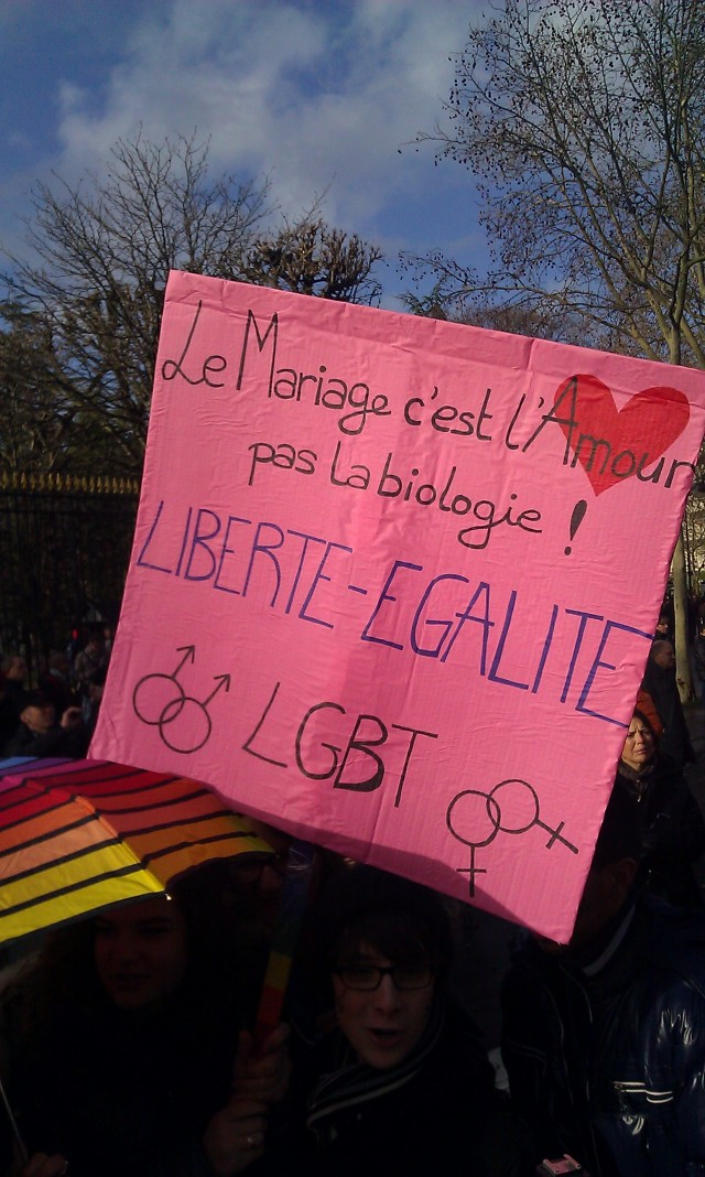 Liberté, égalité, LGBT [Freedom, equality, LGBT]