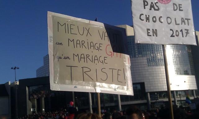 Mieux vaut un mariage gay qu'un mariage triste []
