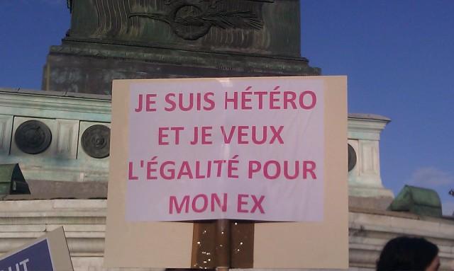 Je suis hétéro et je veux l'égalité pour mon ex []