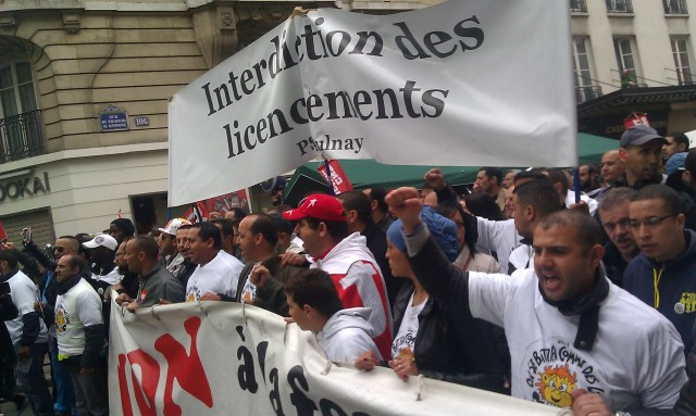 Interdiction des licenciements, PSA Aulnay []