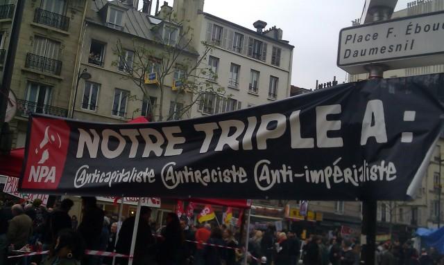 Notre triple A : Anticapitaliste, Antiraciste, Anti-impérialiste, NPA []