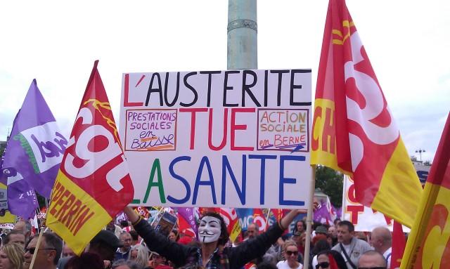 L'austérité tue la Santé [Austerity kills the Health]