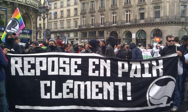 Repose en paix Clément, Action Antifasciste [Rest in peace Clément, Antifascist Action]