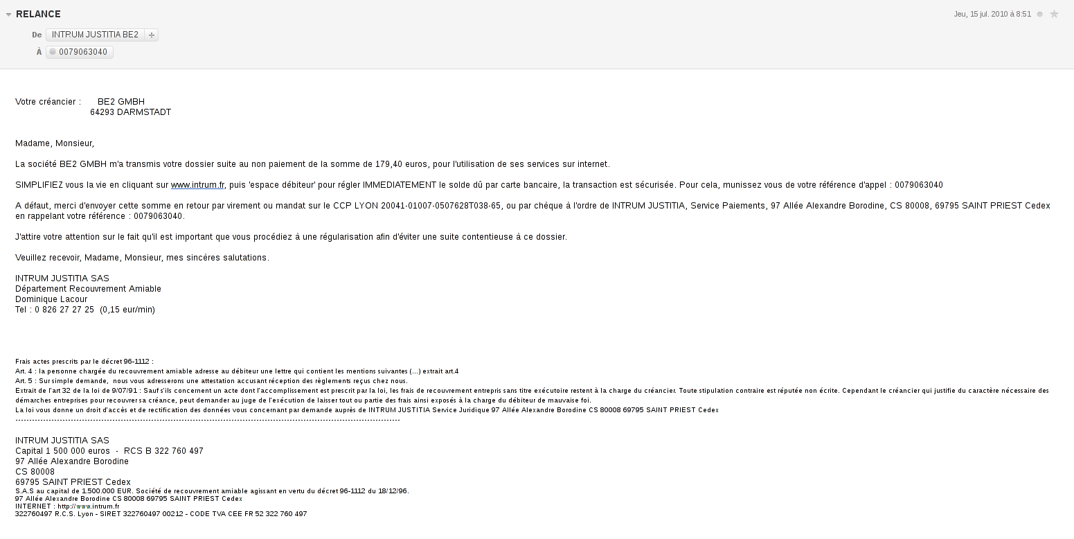 Exemple de mail site de rencontre
