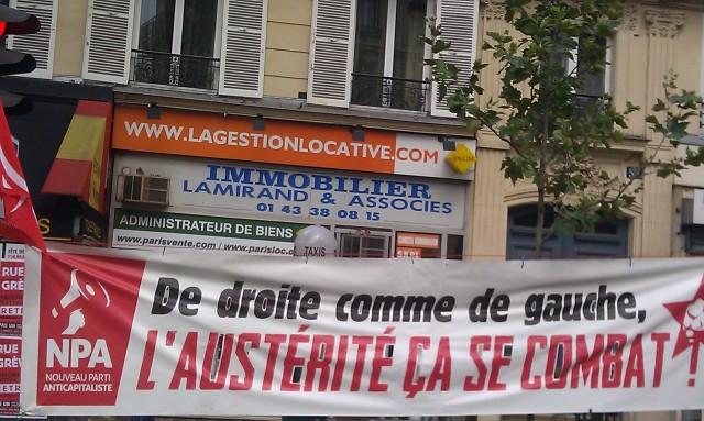 De droite comme de gauche, l'austérité ça se combat!, Nouveau Parti Anticapitaliste [, New Anticapitalist Party]
