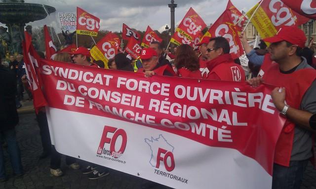 Syndicat FO du conseil régional de Franche-Comté [Union FO Regional Council of Franche-Comté]