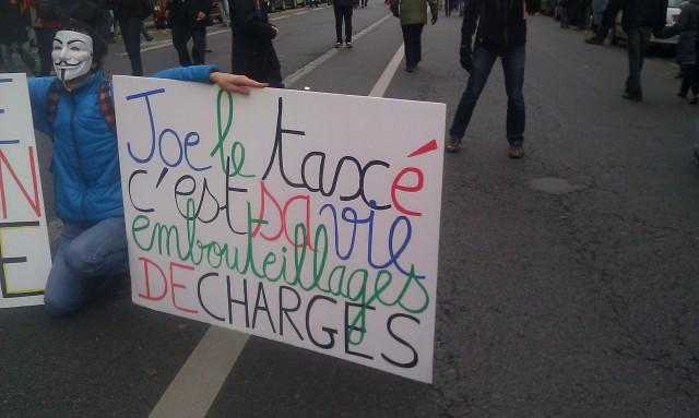 Joe le taxé c'est sa vie, embouteillage de charges []