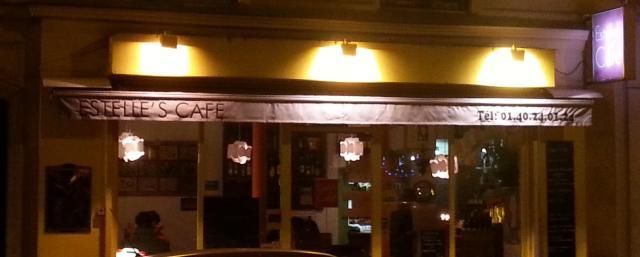 Façade du restaurant finlandais Estelle's Café à Paris [Frontage of the restaurant Estelle's Café à Paris]