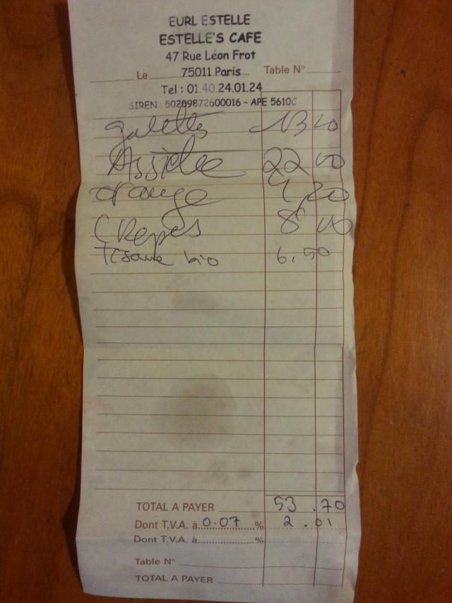 Ticket de caisse [Sales receipt]