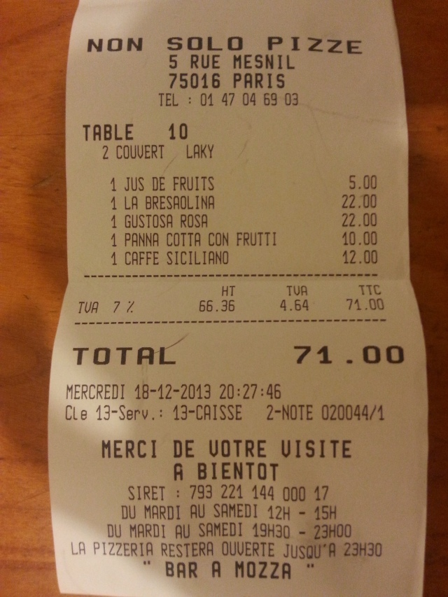 Ticket de caisse [Sales receipt]