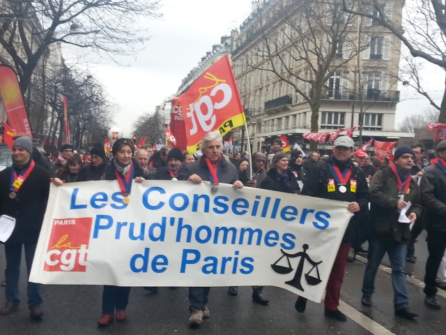 Les conseillers prud'hommes CGT Paris [The members of the elected industrial tribunal CGT Paris]