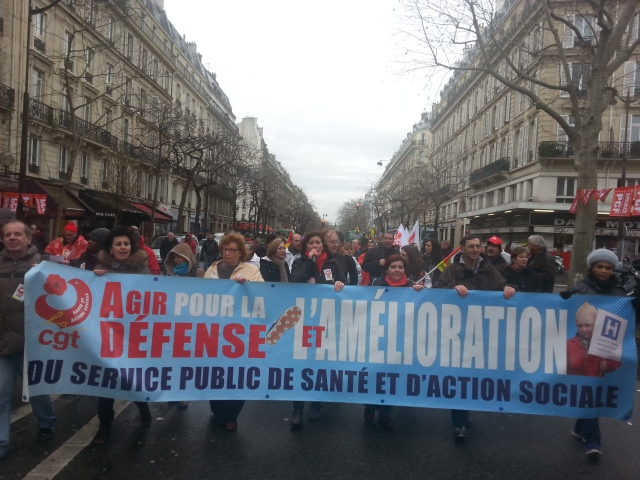 , CGT santé et action sociale [, CGT health care and social action]