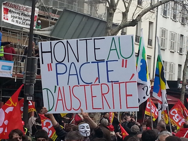 Honte au pacte d'austérité [Shame on the pact of austerity]