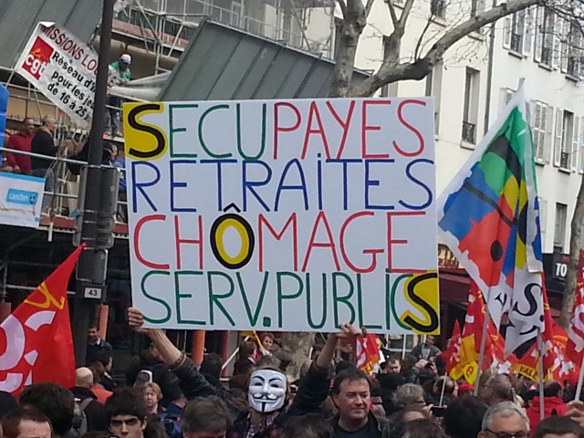 Sécu, paies, chômage, services publics [Social welfare, wages, unemployment, public utilities]