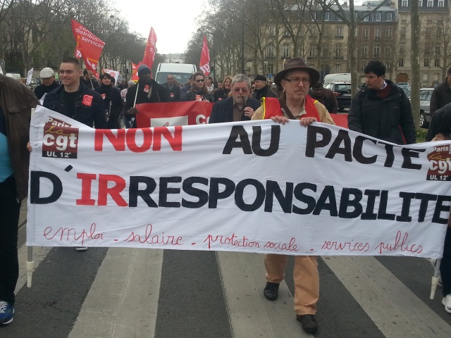 Non au pacte d'irresponsabilité, CGT [No to the pact of irresponsibility, CGT]