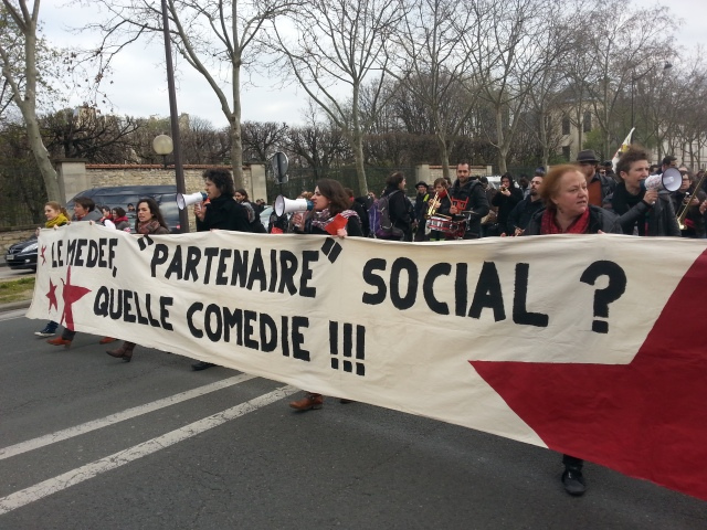 Le MEDEF, partenaire social? Quelle comédie [The MEDEF, social partner?, what a comedy]